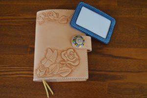 手帳カバー薔薇と蝶5